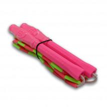 Бисерная скакалка Hexagon Pink-Green