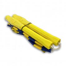 Бисерная скакалка Hexagon Yellow-Blue