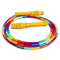Детская радужная бисерная скакалка Hexagon Rainbow Junior